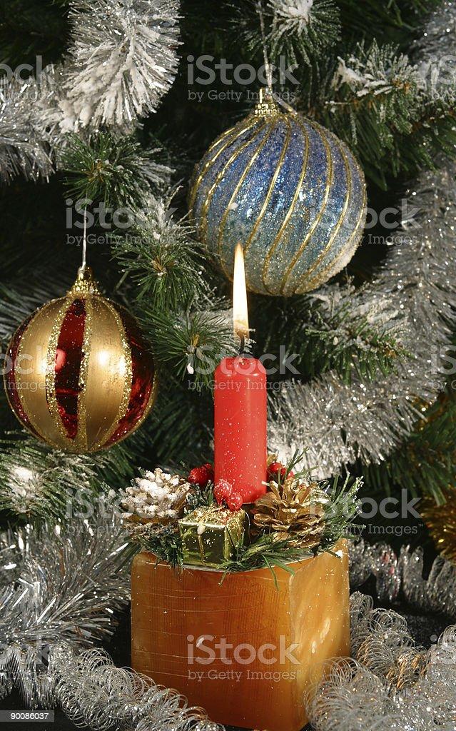 Under the christmas tree stock photo