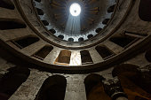 Under the dome of the Church of the Holy Sepulchre
