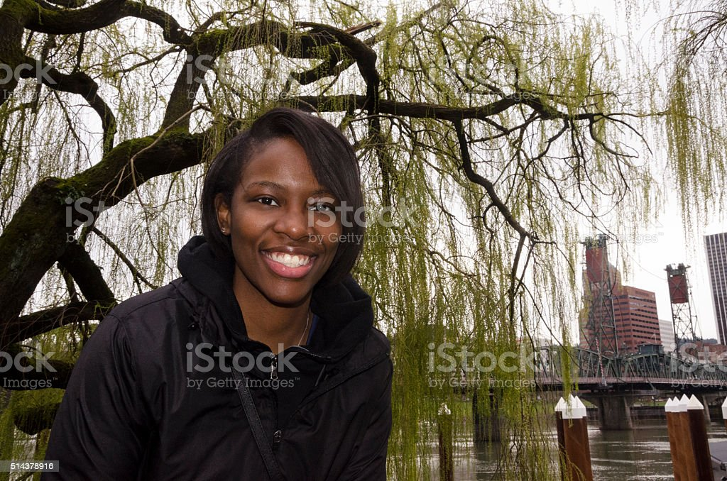 Under the Eastbank Weeping Willow stock photo