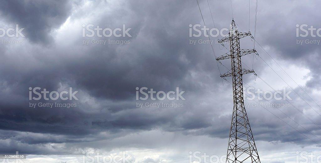 Sous les nuages électrique photo libre de droits