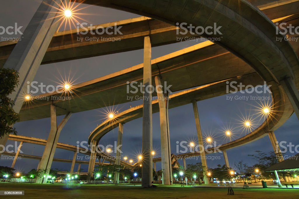 under the expressway stock photo