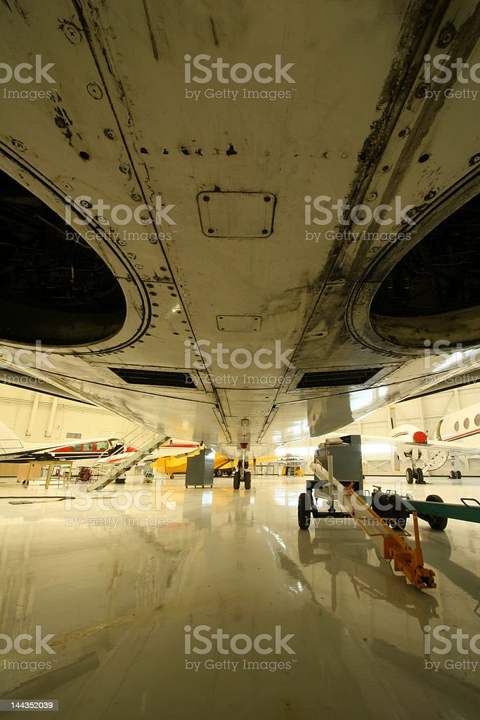 Under the fuselage royalty-free stock photo