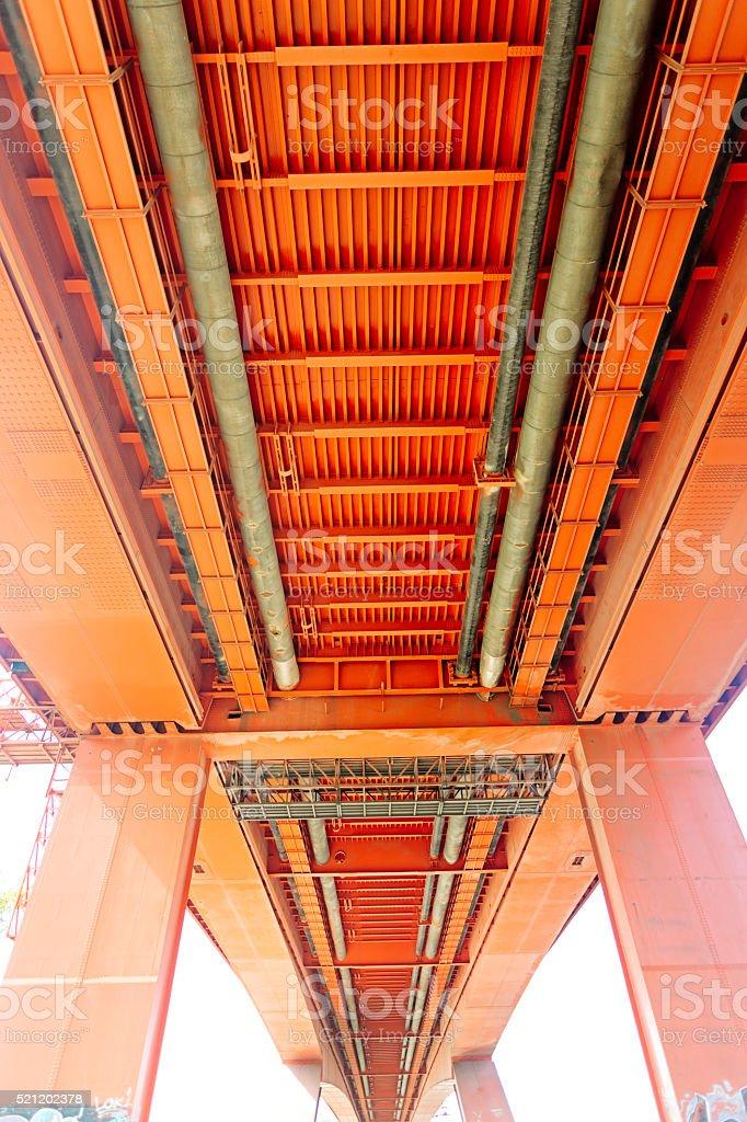 Under the Gazela Bridge, Belgrade, Serbia stock photo