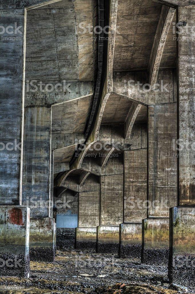 Under the harbour bridge royalty-free stock photo