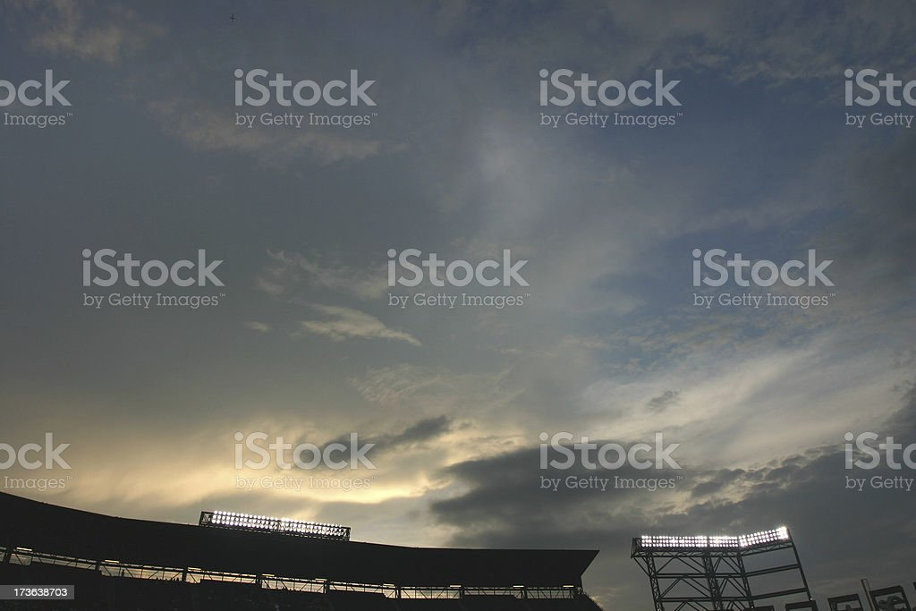 Under The Lights royalty-free stock photo