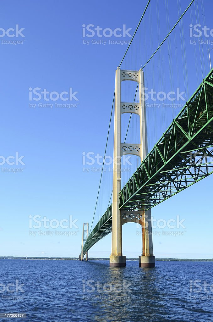 Under the Mackinac Bridge stock photo