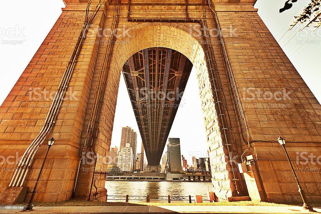 Under the Queensboro Bridge stock photo