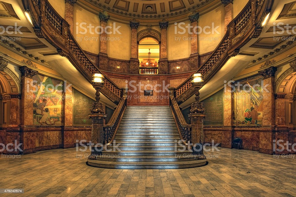 Under the Rotunda of the Colorado State Capitol Building stock photo