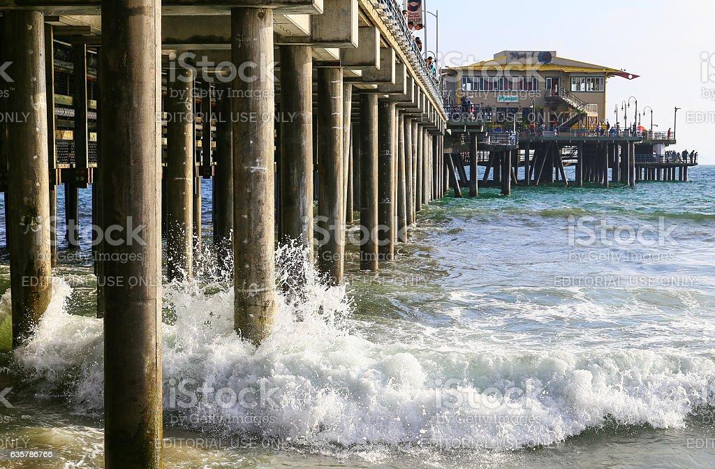 Under the Santa Monica Pier stock photo