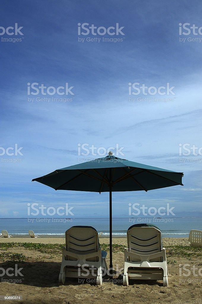 under the shade royalty-free stock photo