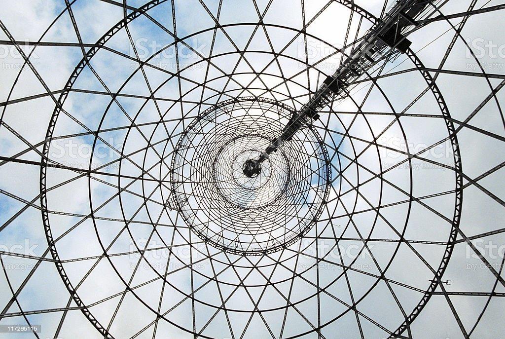 Under the Shukhov radiotower (Moscow) stock photo