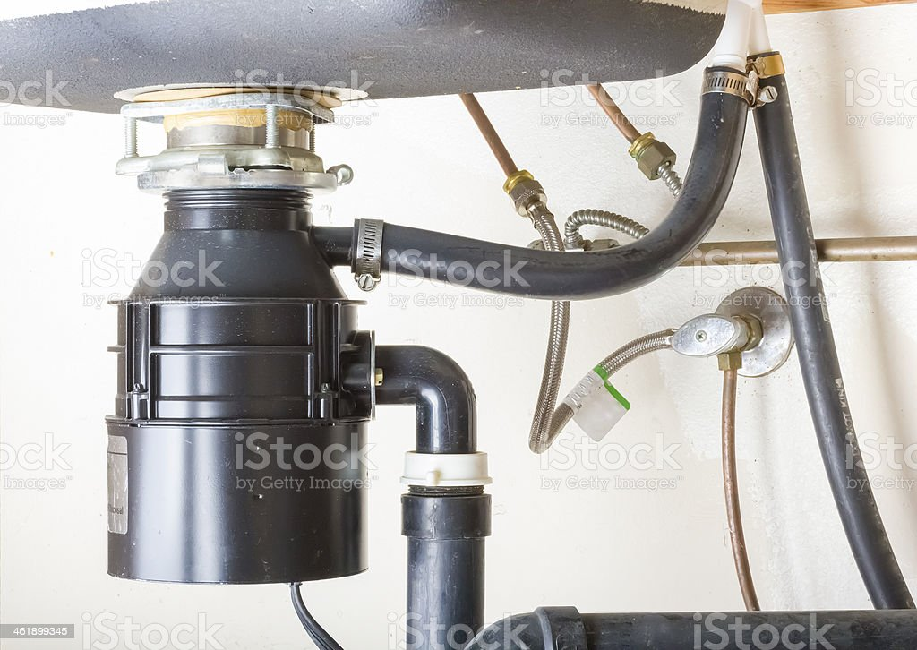 Under the sink. stock photo