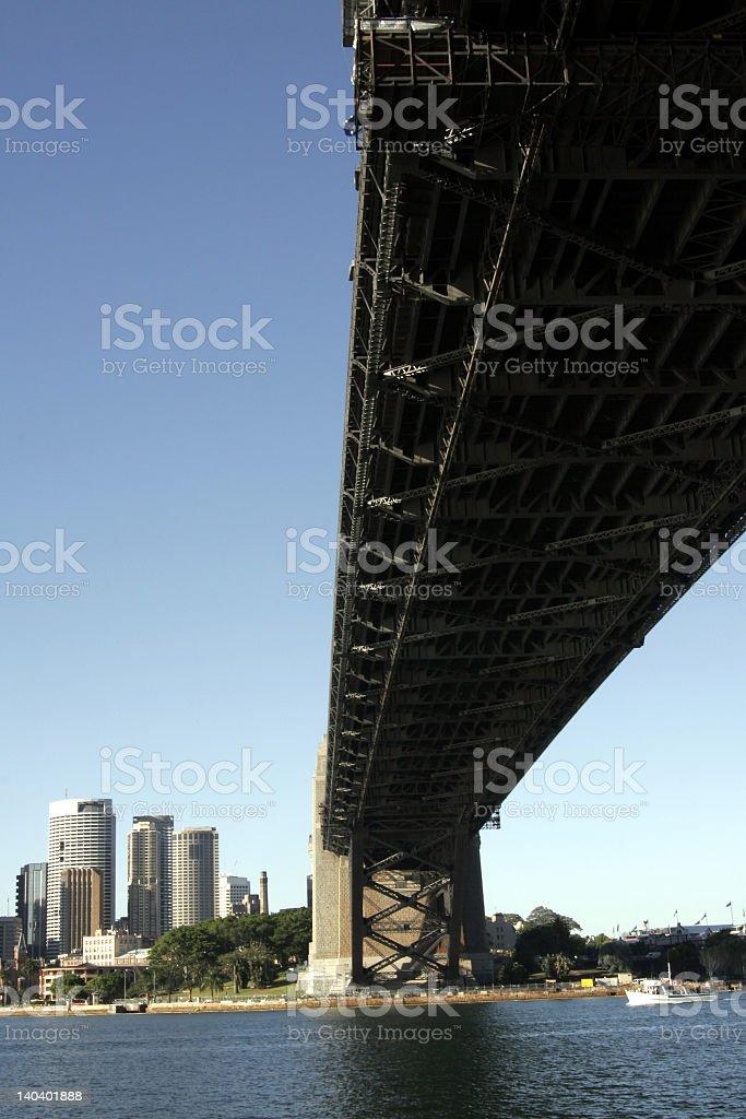 Under The Sydney Harbour Bridge royalty-free stock photo