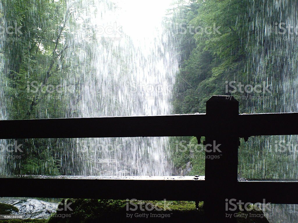 Under the Water Fall stock photo