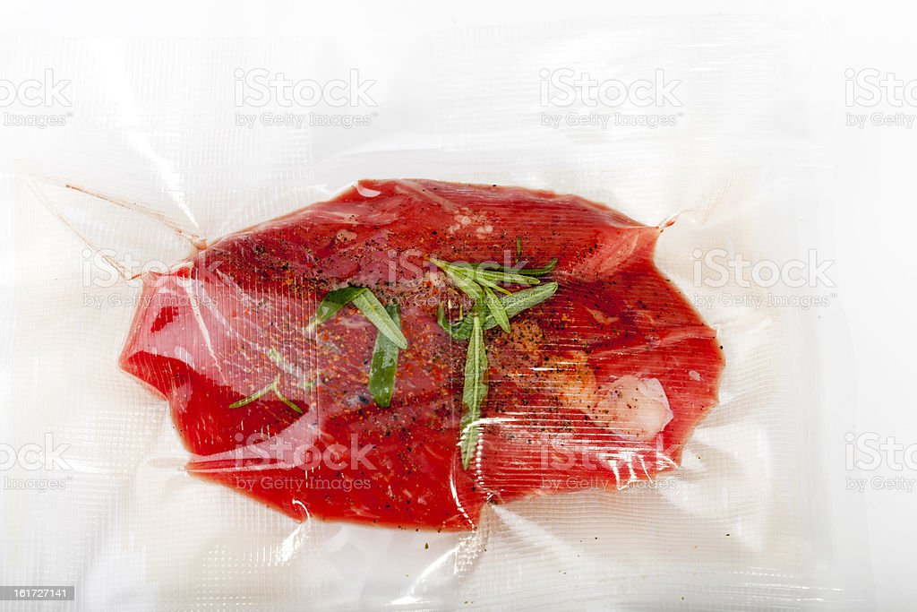 sous vide bag stock photo