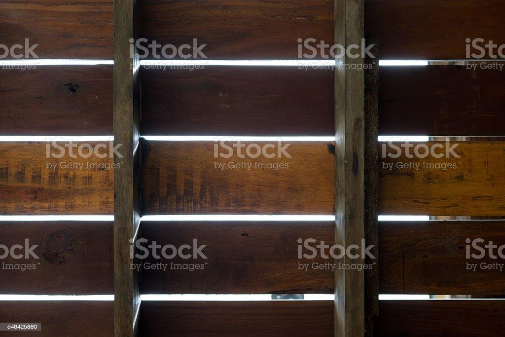 Under view of wooden plank floor photo libre de droits