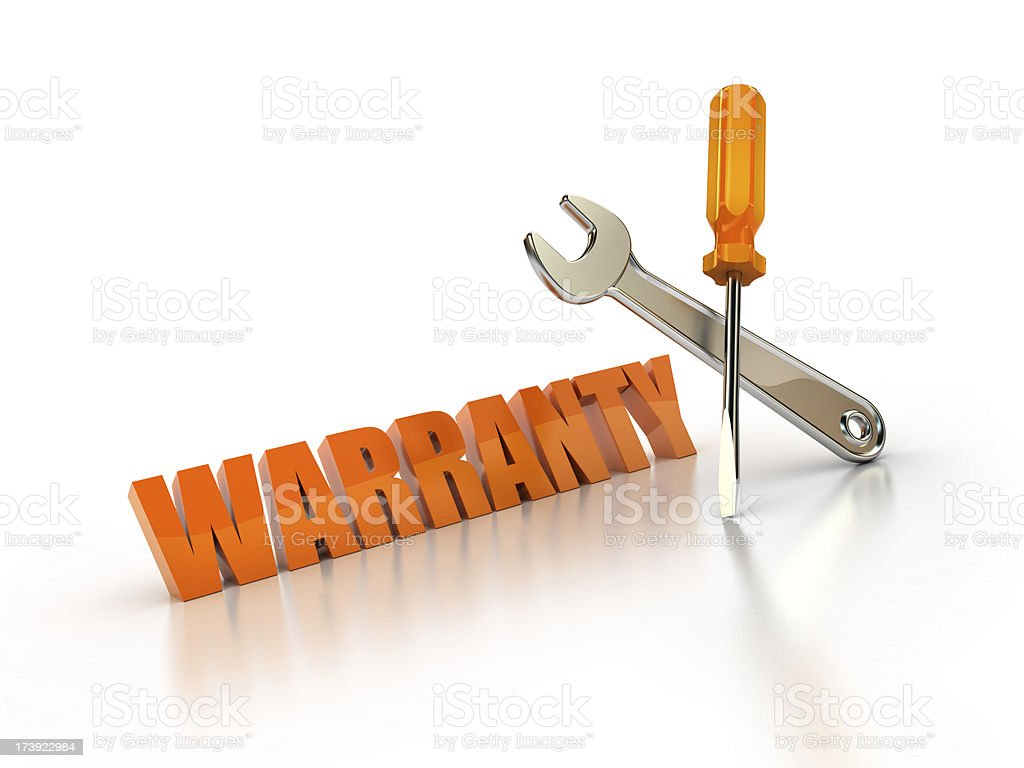 under warranty royalty-free stock photo