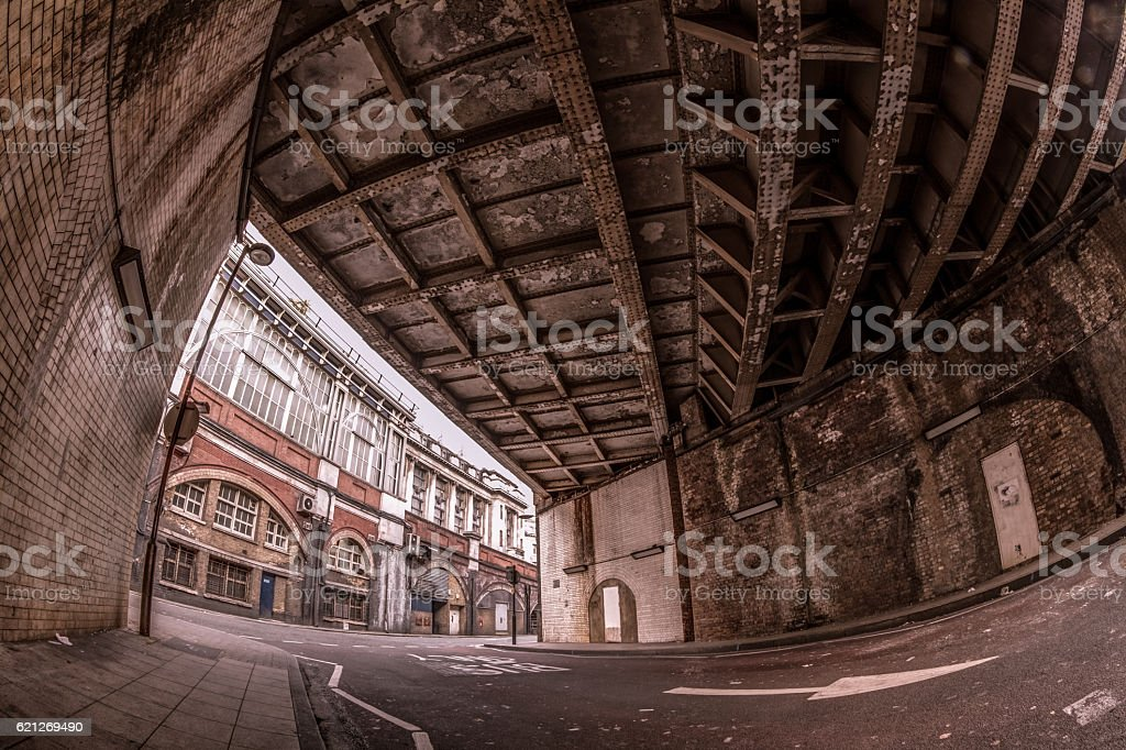 Under Waterloo bridge stock photo