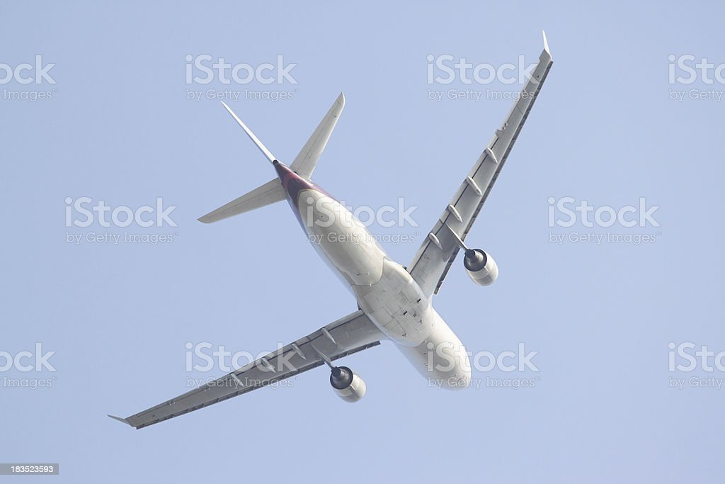 A330 under wing stock photo