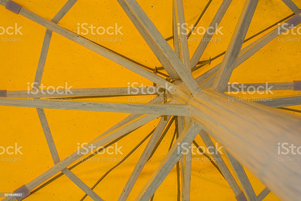 under yellow umbrella royalty-free stock photo