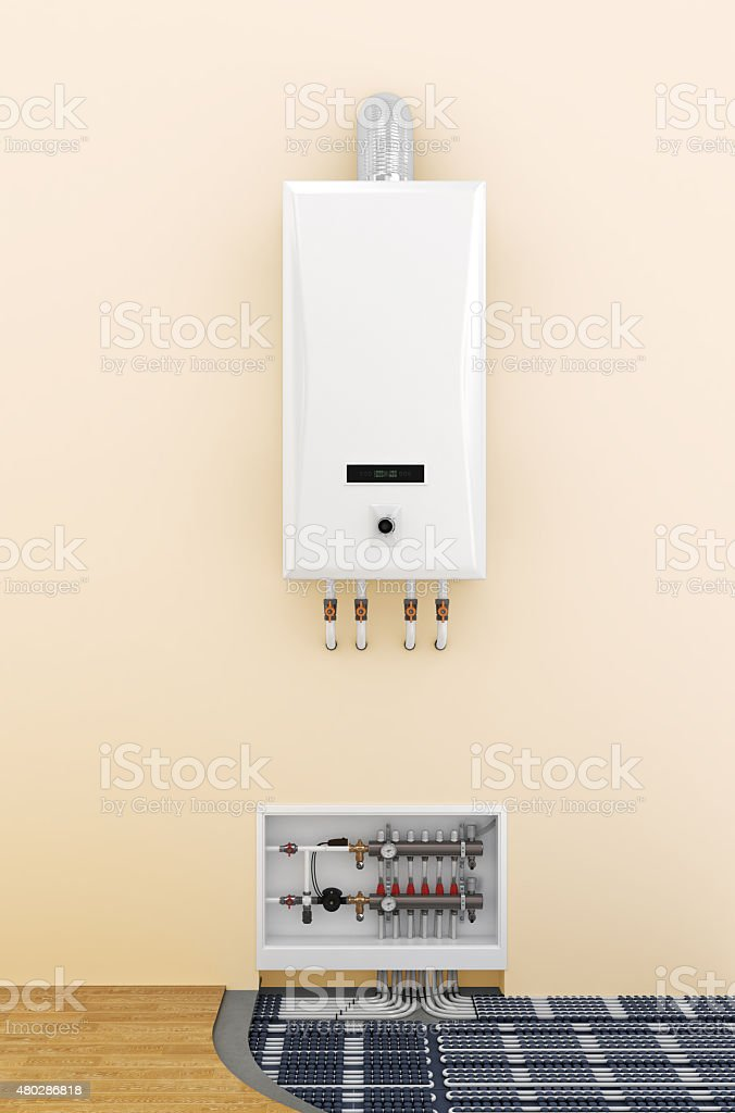 underfloor heating control system in home stock photo