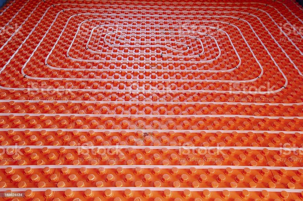 Underfloor heating stock photo