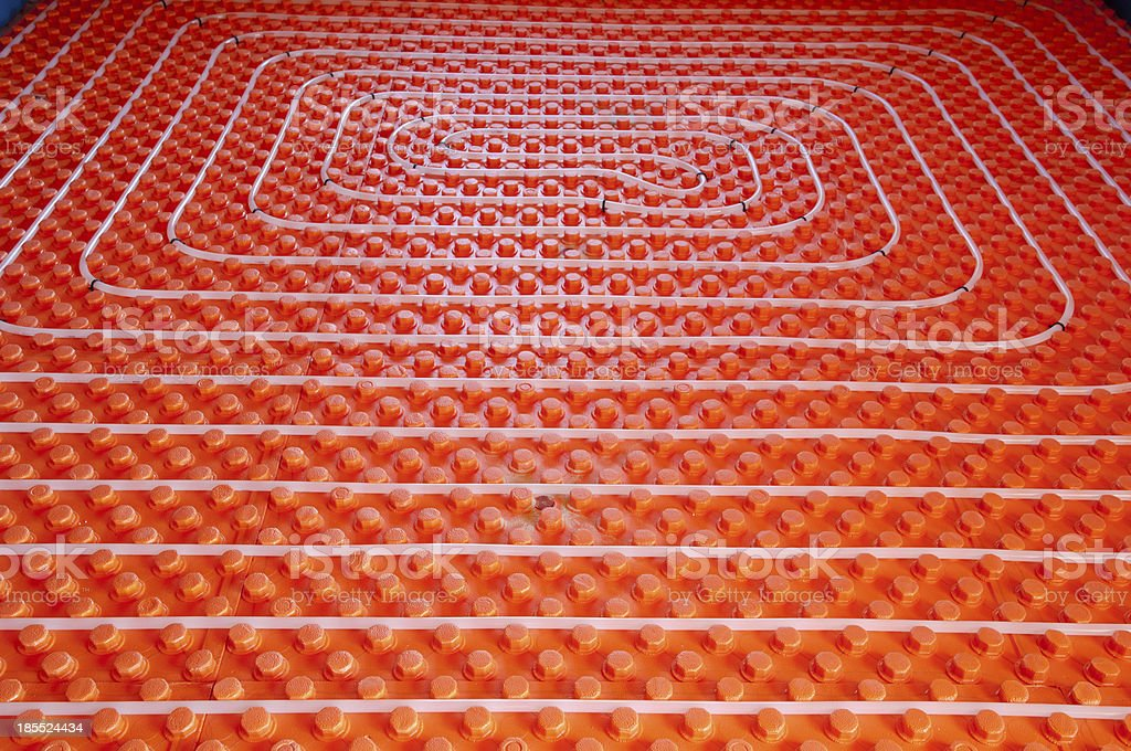 Underfloor heating stock photo