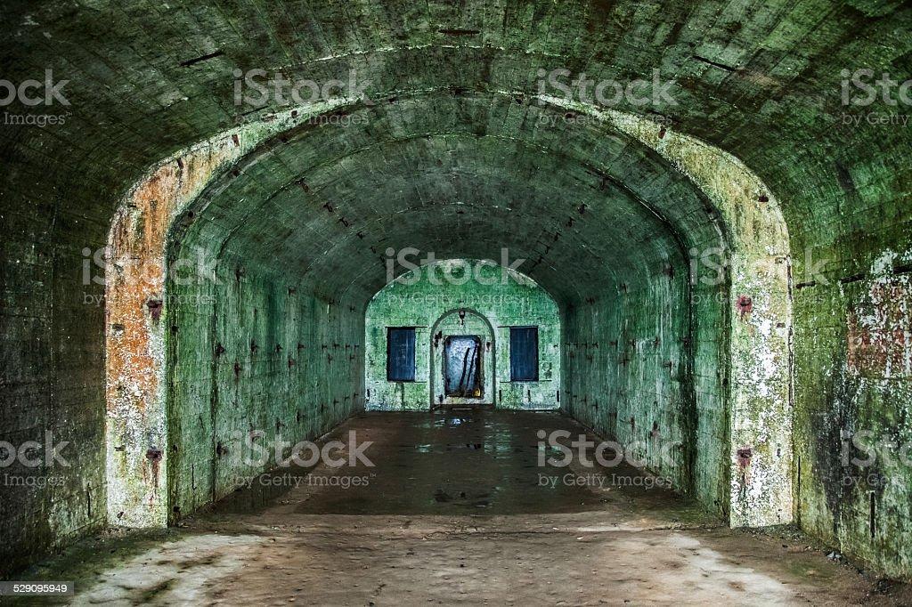 Underground bunker stock photo