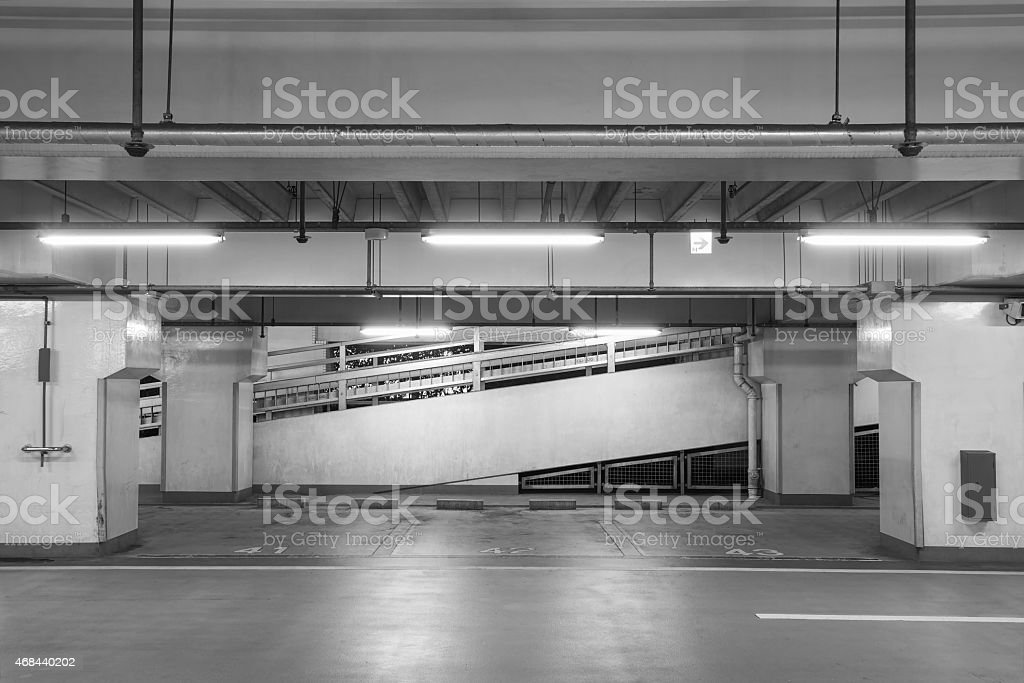 underground car parking stock photo
