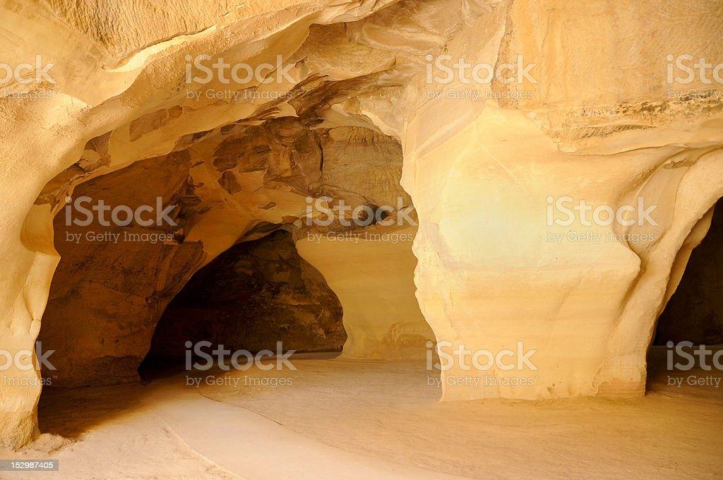 Caverna subterrâneas foto royalty-free