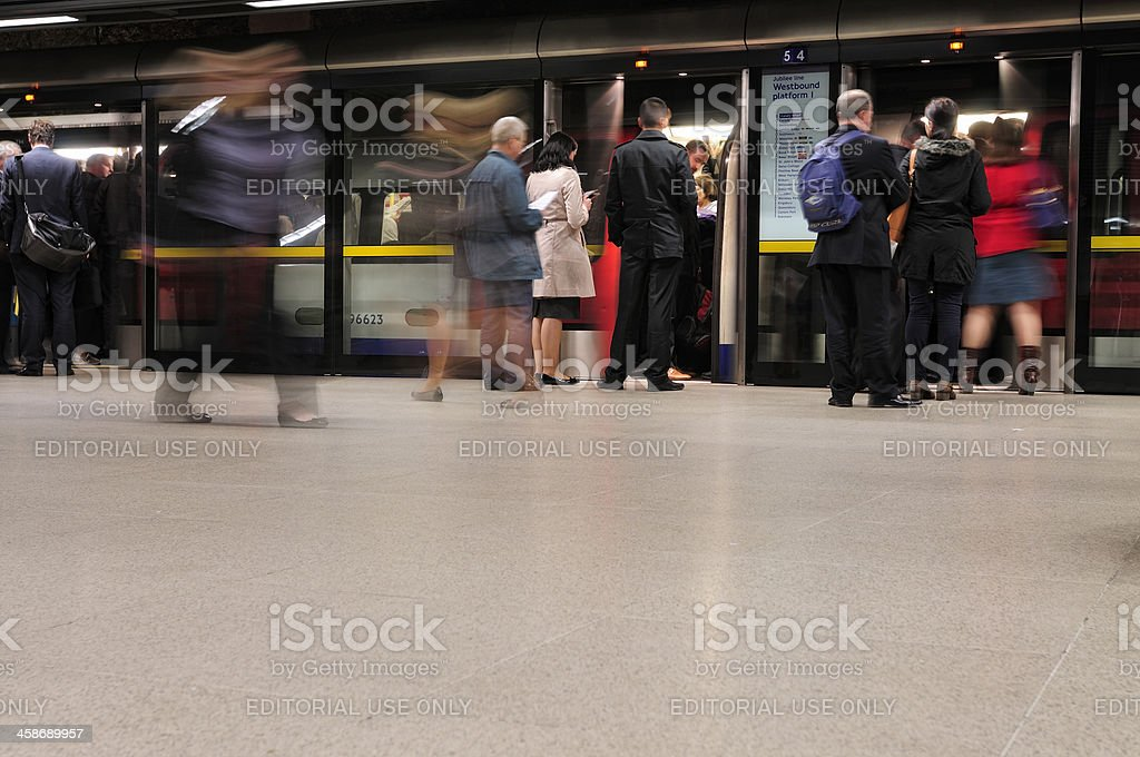 Underground commuters royalty-free stock photo