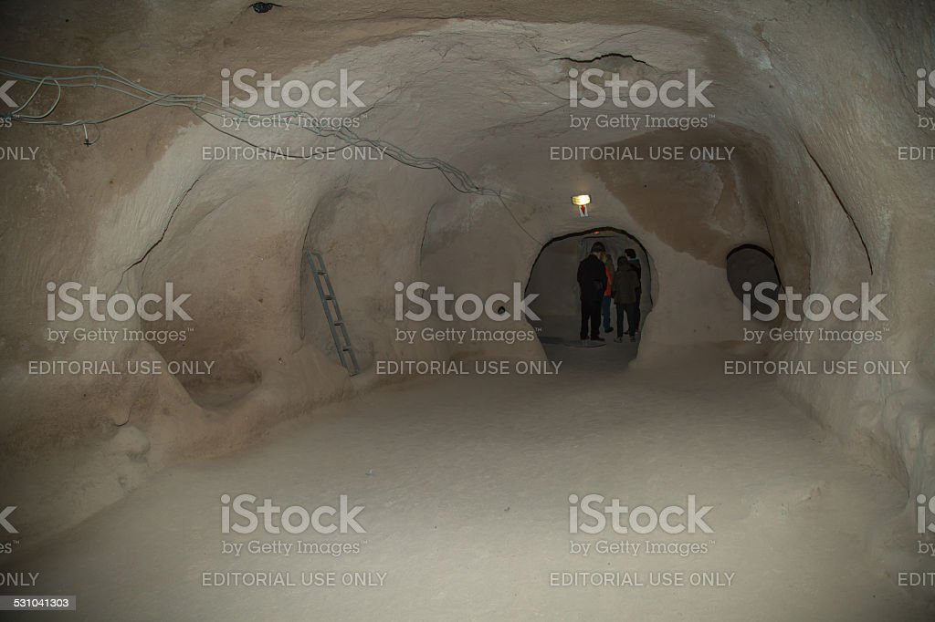 Underground dwelling stock photo