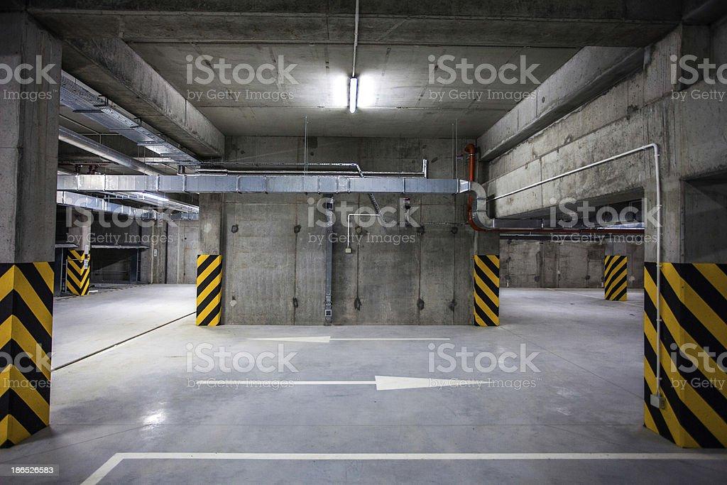 Underground Garage royalty-free stock photo