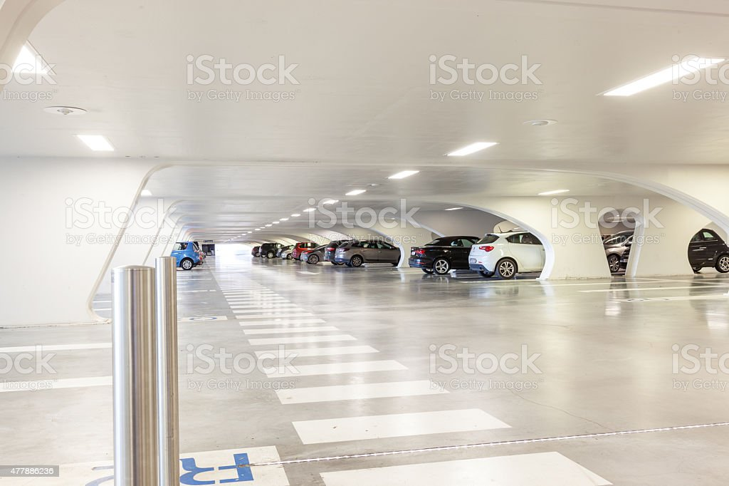 underground garage stock photo