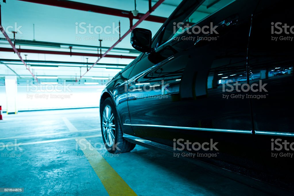 Underground garage royalty-free stock photo
