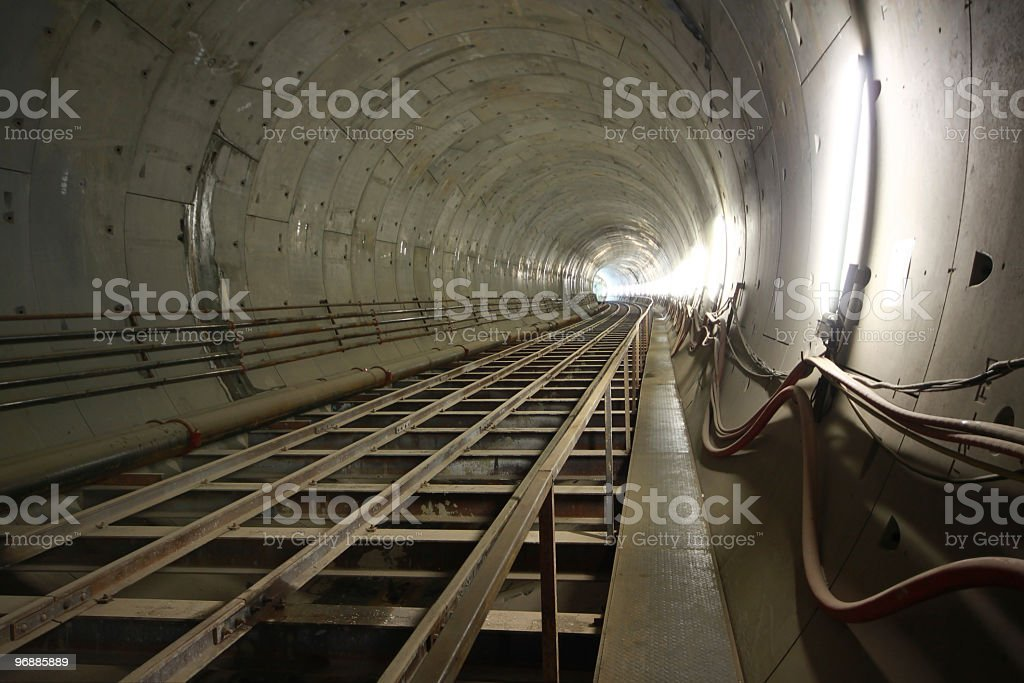 Underground Metro Tunnel stock photo