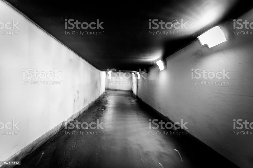 Underground - Monochrome stock photo