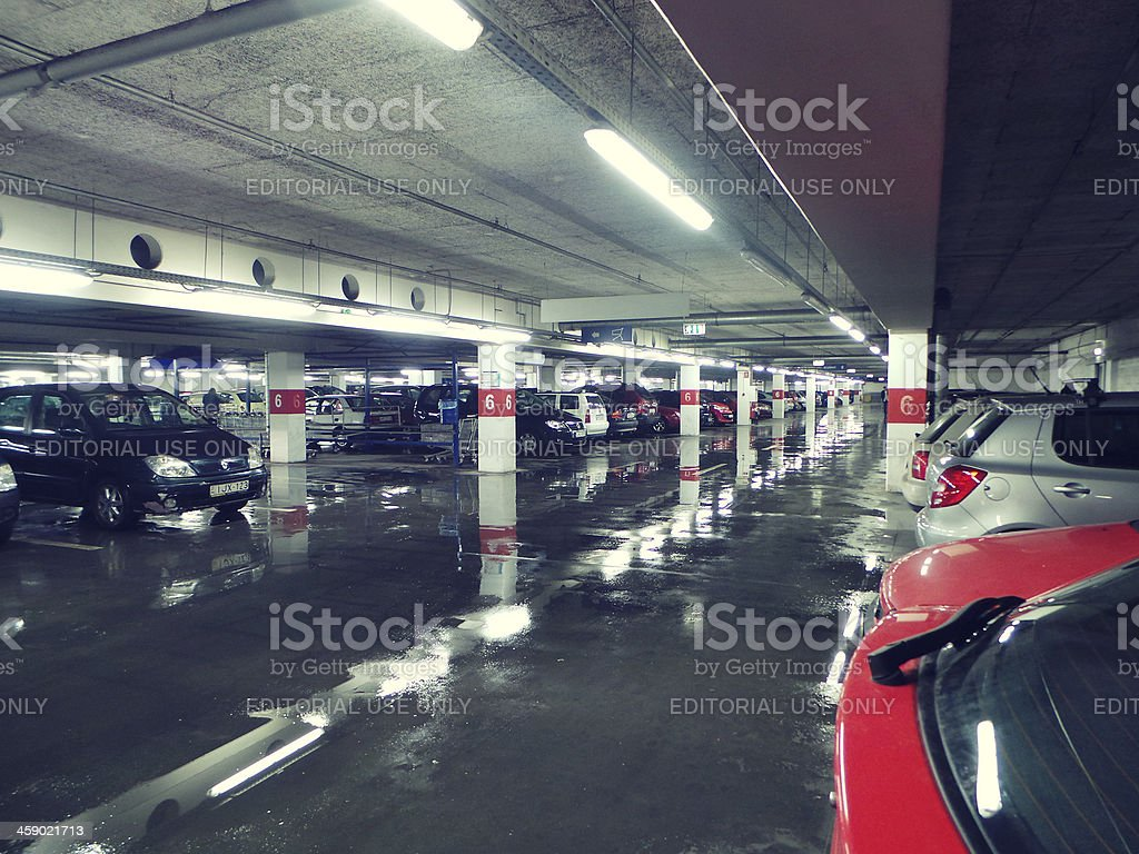 underground parking lot royalty-free stock photo