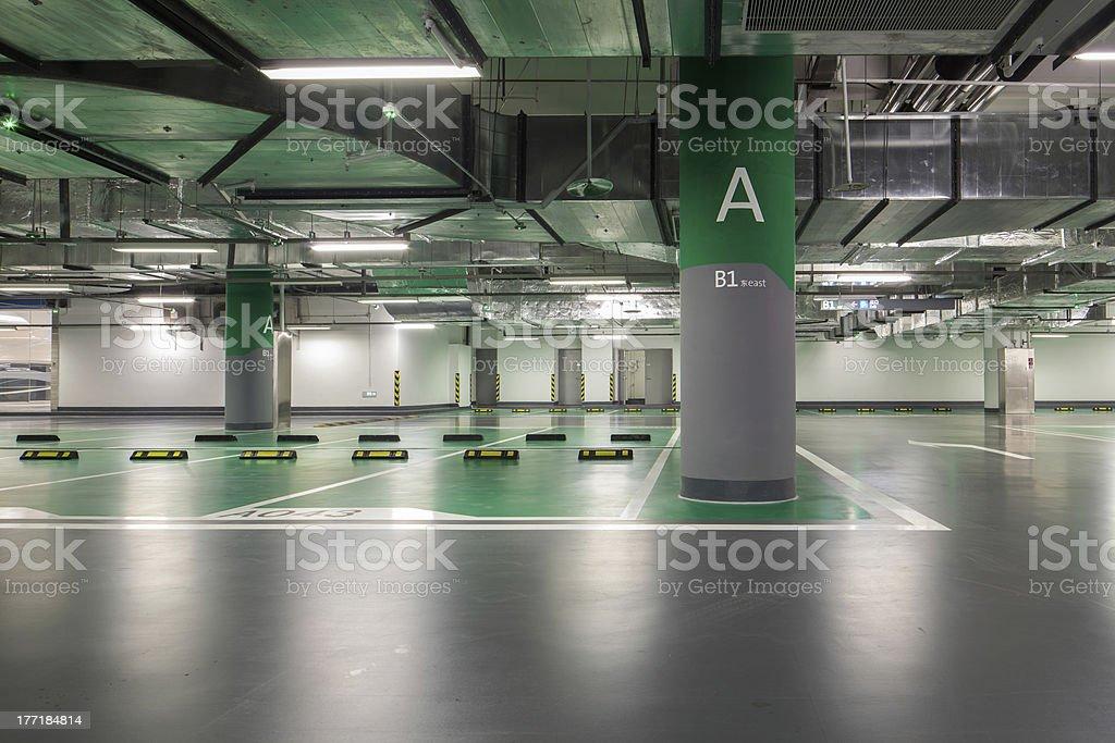 underground parking royalty-free stock photo