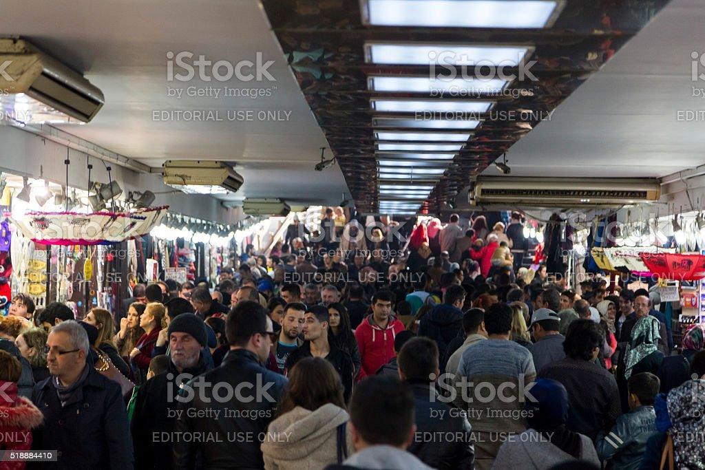 Underground Passage in Eminonu, Istanbul stock photo
