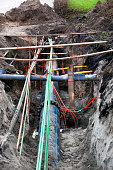 Underground pipes and cables