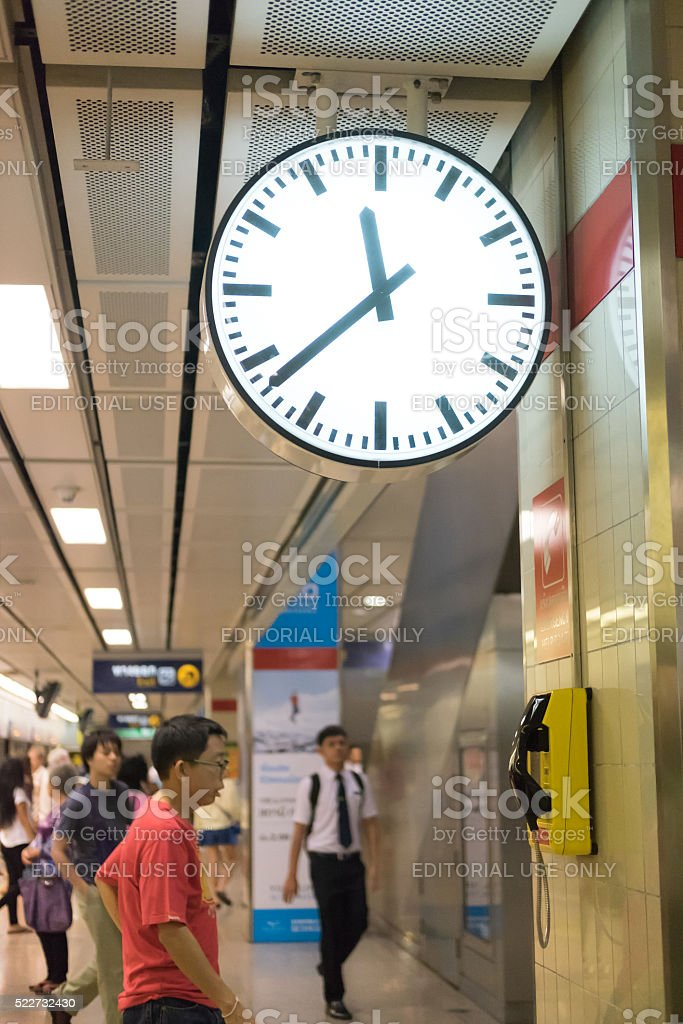 MRT underground station at Thailand stock photo