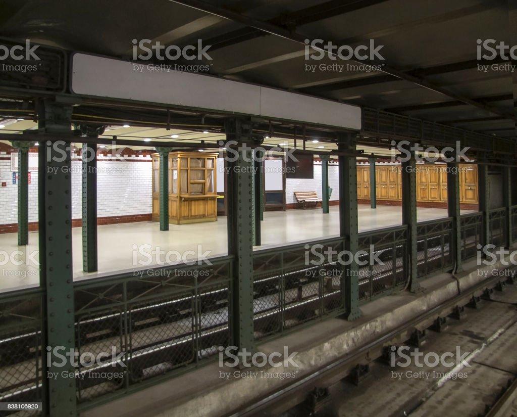 underground station in Budapest stock photo