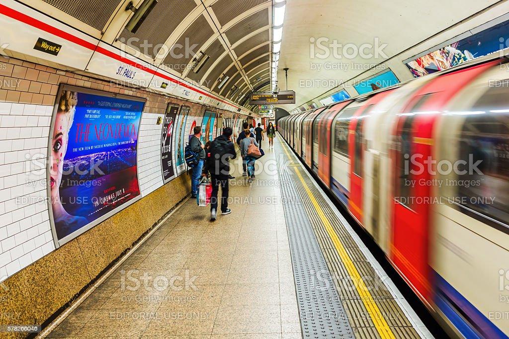 underground station in London, UK. stock photo