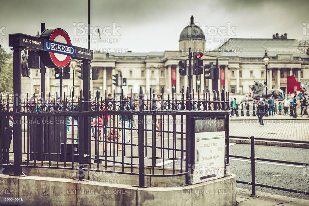Underground station, London stock photo