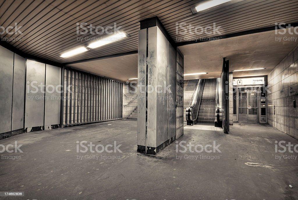 Underground station royalty-free stock photo