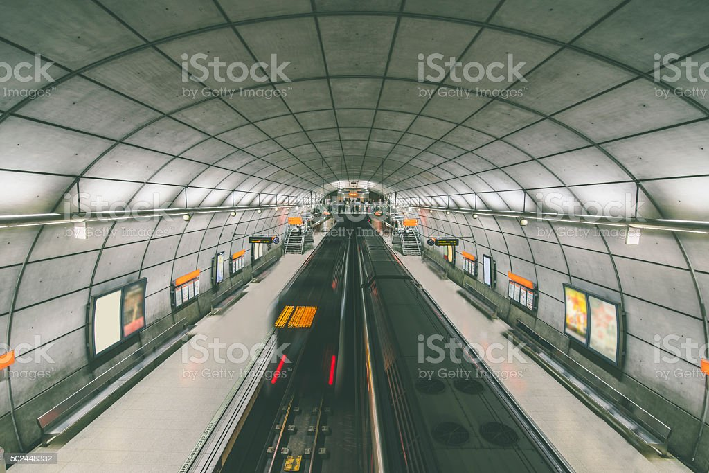Underground station stock photo