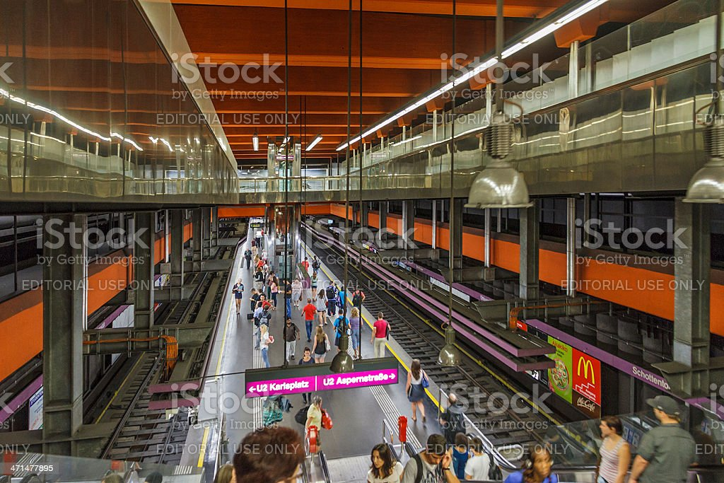Underground Station, Vienna royalty-free stock photo