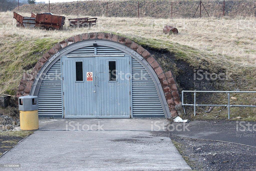 Underground storage bunker stock photo