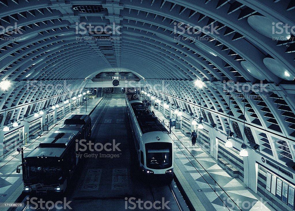 Underground Subway Station in Seattle stock photo